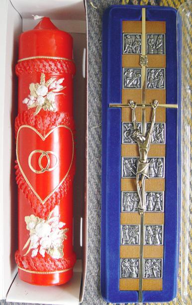 Svadobné oznámenie a ostatné na 1.10.2005 - naša sviečka a krížik