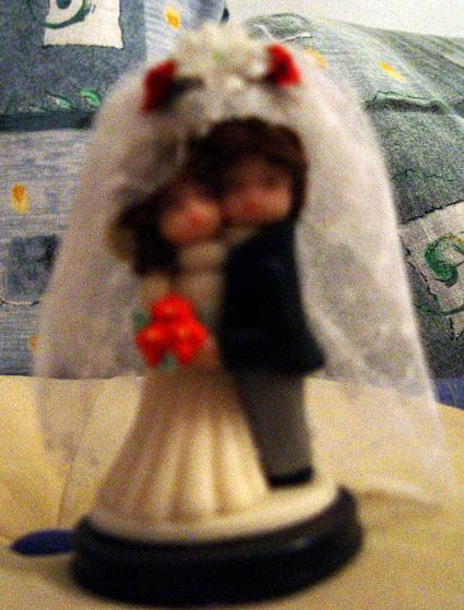 Svadobné oznámenie a ostatné na 1.10.2005 - závoj na postavičky