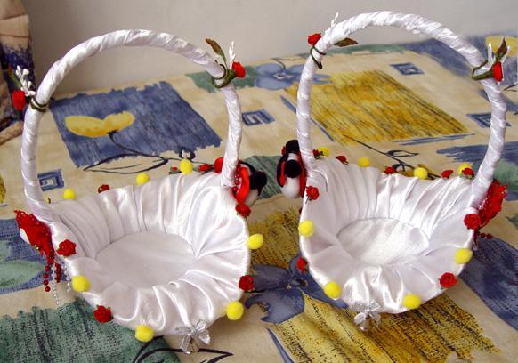 Svadobné oznámenie a ostatné na 1.10.2005 - košíček pre družičky 2
