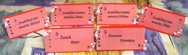 Svadobné oznámenie a ostatné na 1.10.2005 - menovky