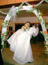 odchod k svadobnému stolu
