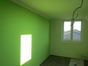 trocha barvy v ložnici