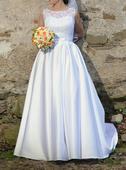 Svadobné šaty jednoduché, 36
