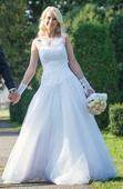 Svadobné šaty šité na štýl modelu Nora - Maggie, 36