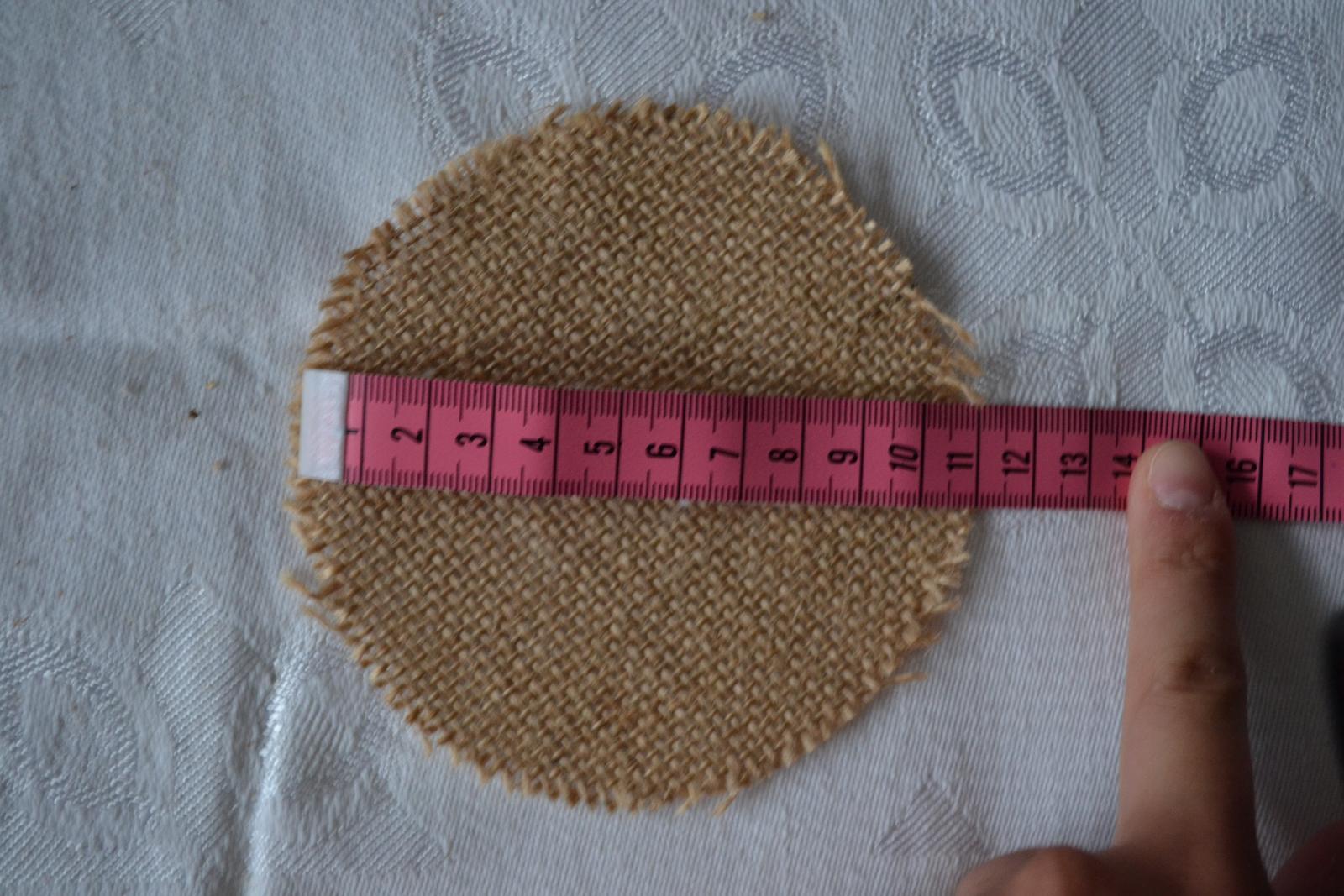 Juta - Jutové kruhy priemer 11cm - Obrázok č. 2