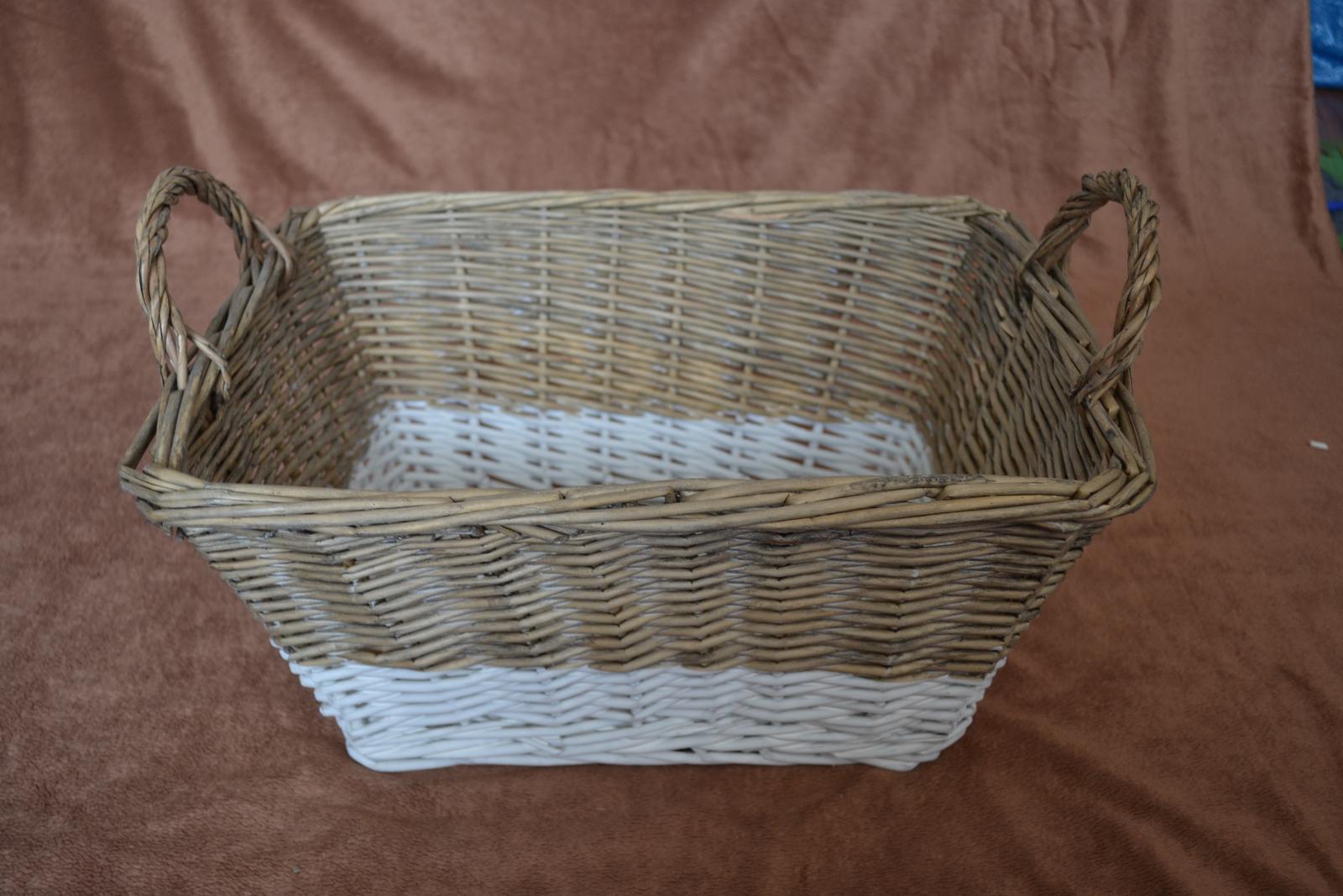 Prútený veľký košík - Obrázok č. 1