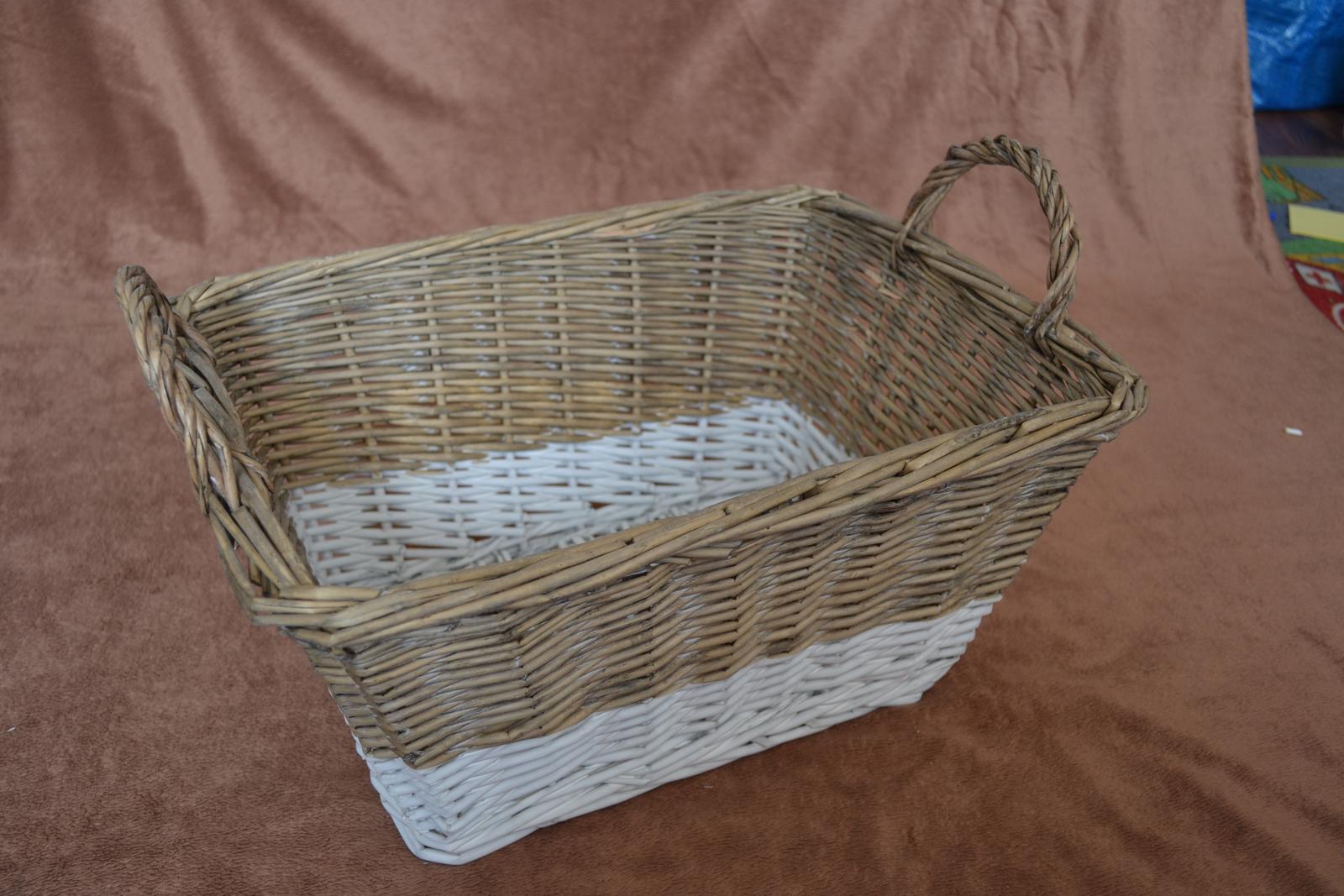 Prútený veľký košík - Obrázok č. 2