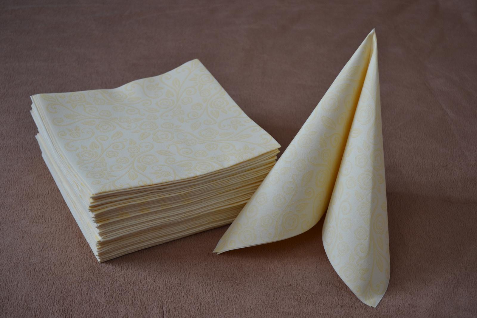 Luxusné papierové obrúsky 40ks - Obrázok č. 1
