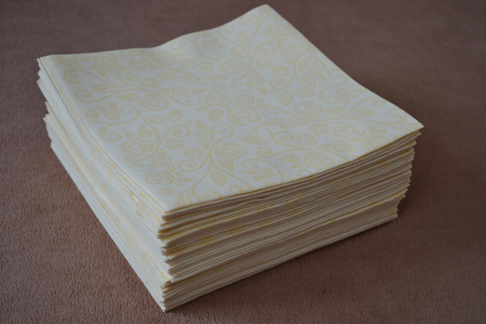Luxusné papierové obrúsky 40ks - Obrázok č. 2