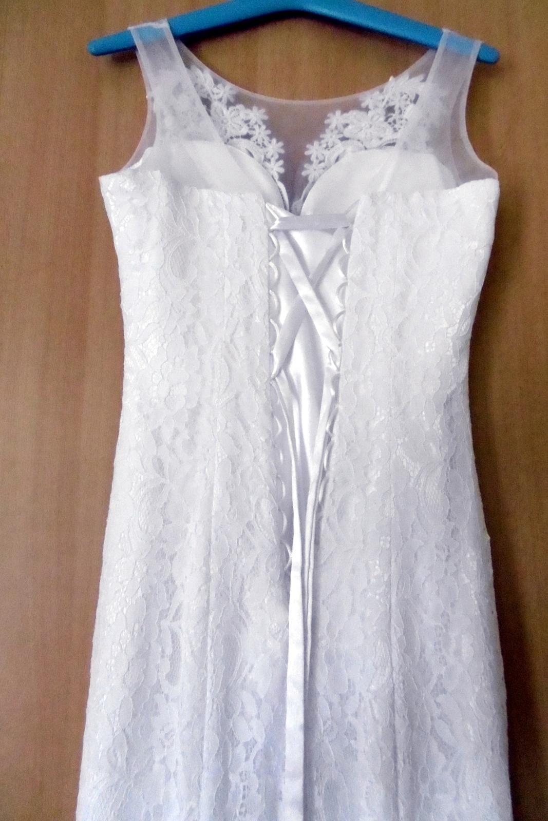 Krajkové svatební šaty vel. 36-38 - Obrázek č. 3