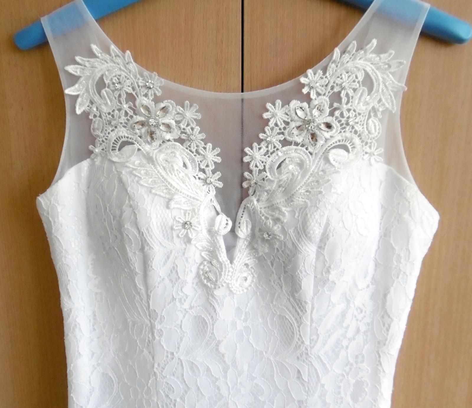 Krajkové svatební šaty vel. 36-38 - Obrázek č. 4