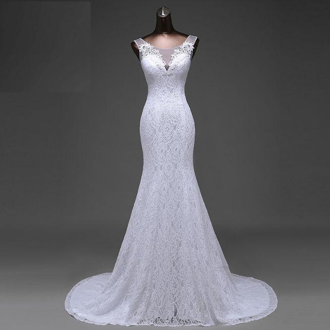 Krajkové svatební šaty vel. 36-38 - Obrázek č. 1