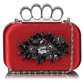 Dámské psaníčko LS Fashion Crystal- červená,