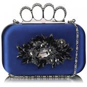 Dámské psaníčko LS Fashion Crystal- modrá,