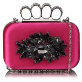 Dámské psaníčko LS Fashion Crystal- růžová,