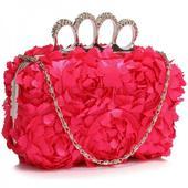 Dámské psaníčko LS Fashion Flower- růžová,