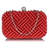 Dámské perličkové psaníčko LS F.Claire - červená,