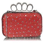 Dámské psaníčko LS Fashion Rachel - červená,