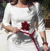 Dvoudílné svatební šaty šité na míru, 42