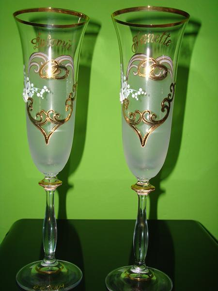 Janette a Lubomir - nase pohare  - na spodnom okraji pohara je datum svadby