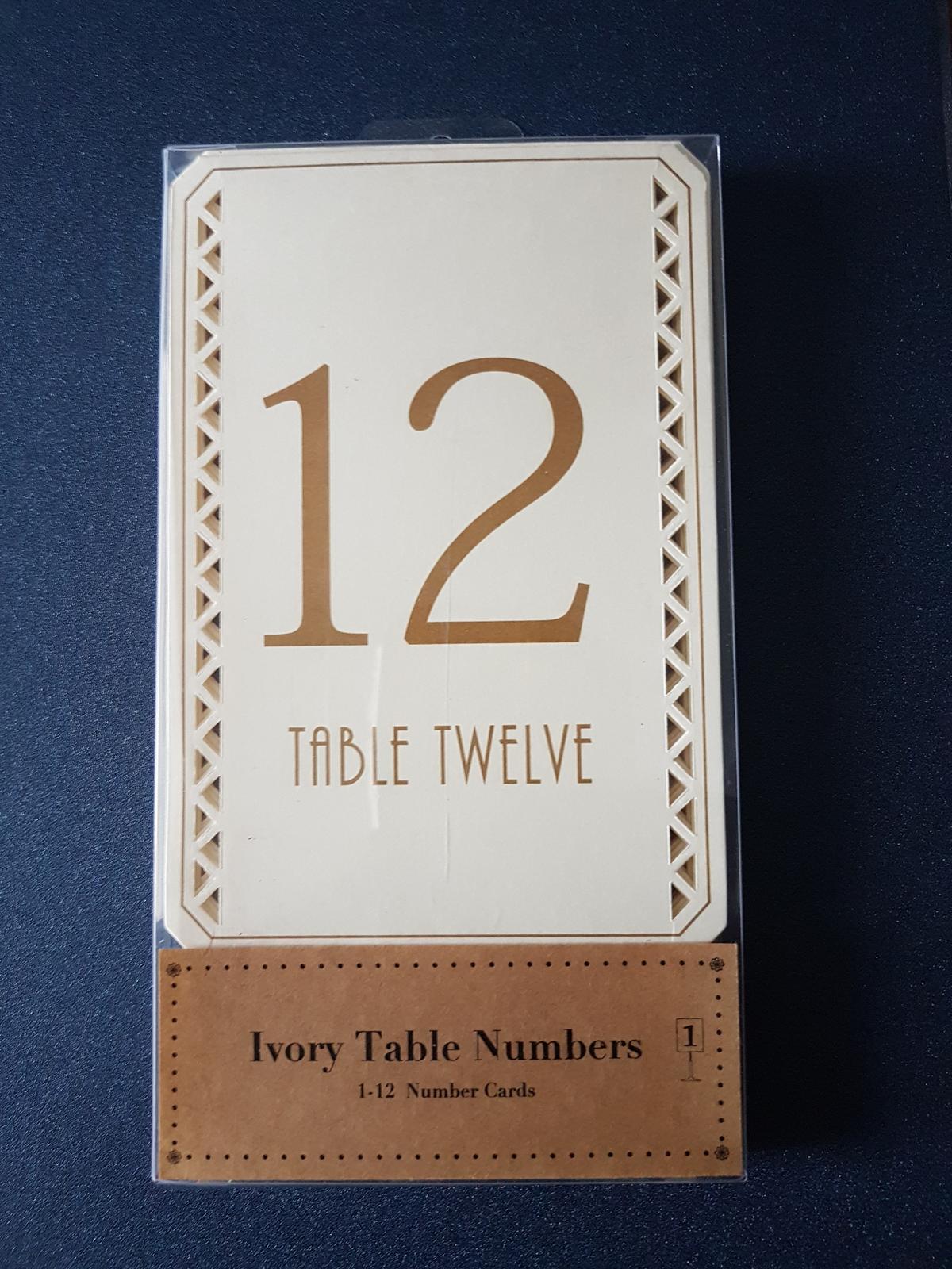 Označenia na stoly - Obrázok č. 1