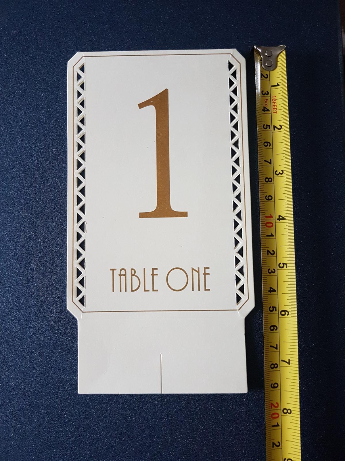 Označenia na stoly - Obrázok č. 4