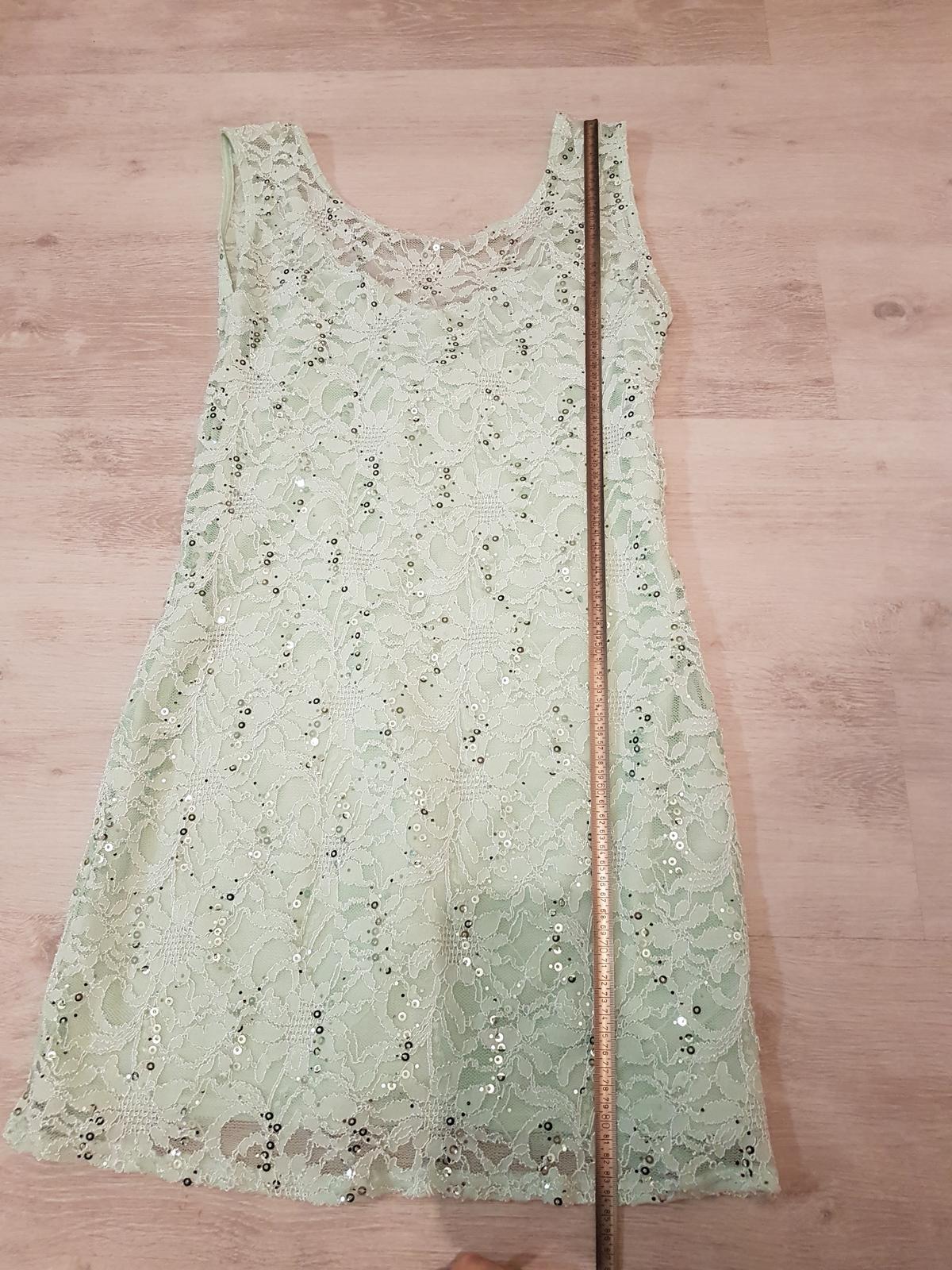 Mentolové šaty  - Obrázok č. 2