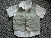 Set pro chlapce 110 116 vesta a košile top stav , 116