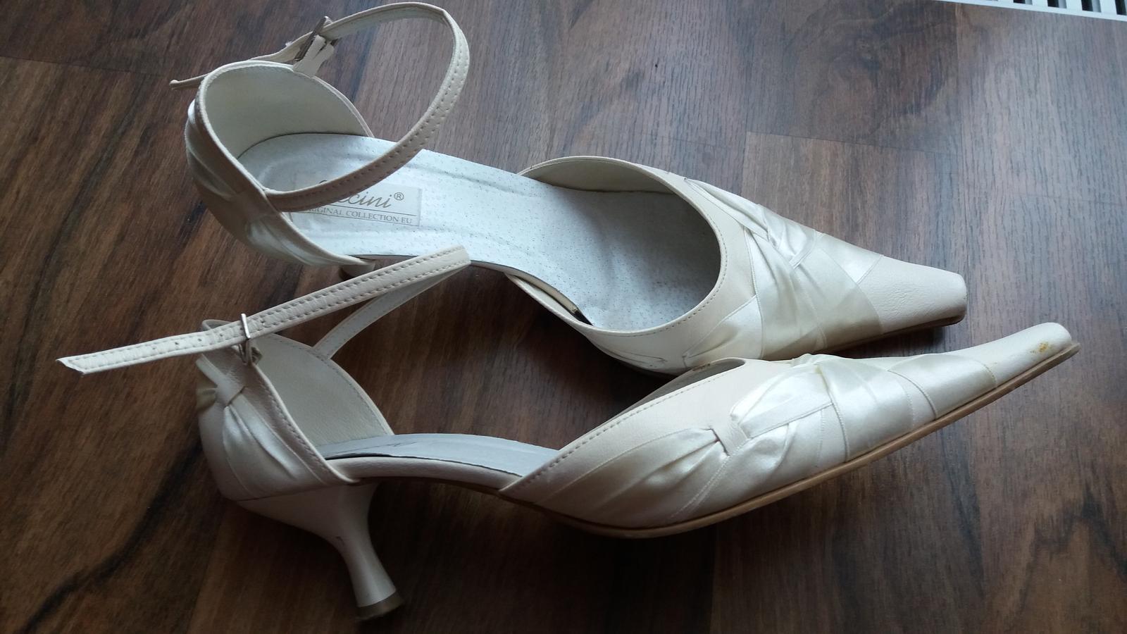 Svatební boty vel.41 šampaň - Obrázek č. 1