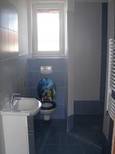 Ve sprch.koutě budou ještě skleněné dveře