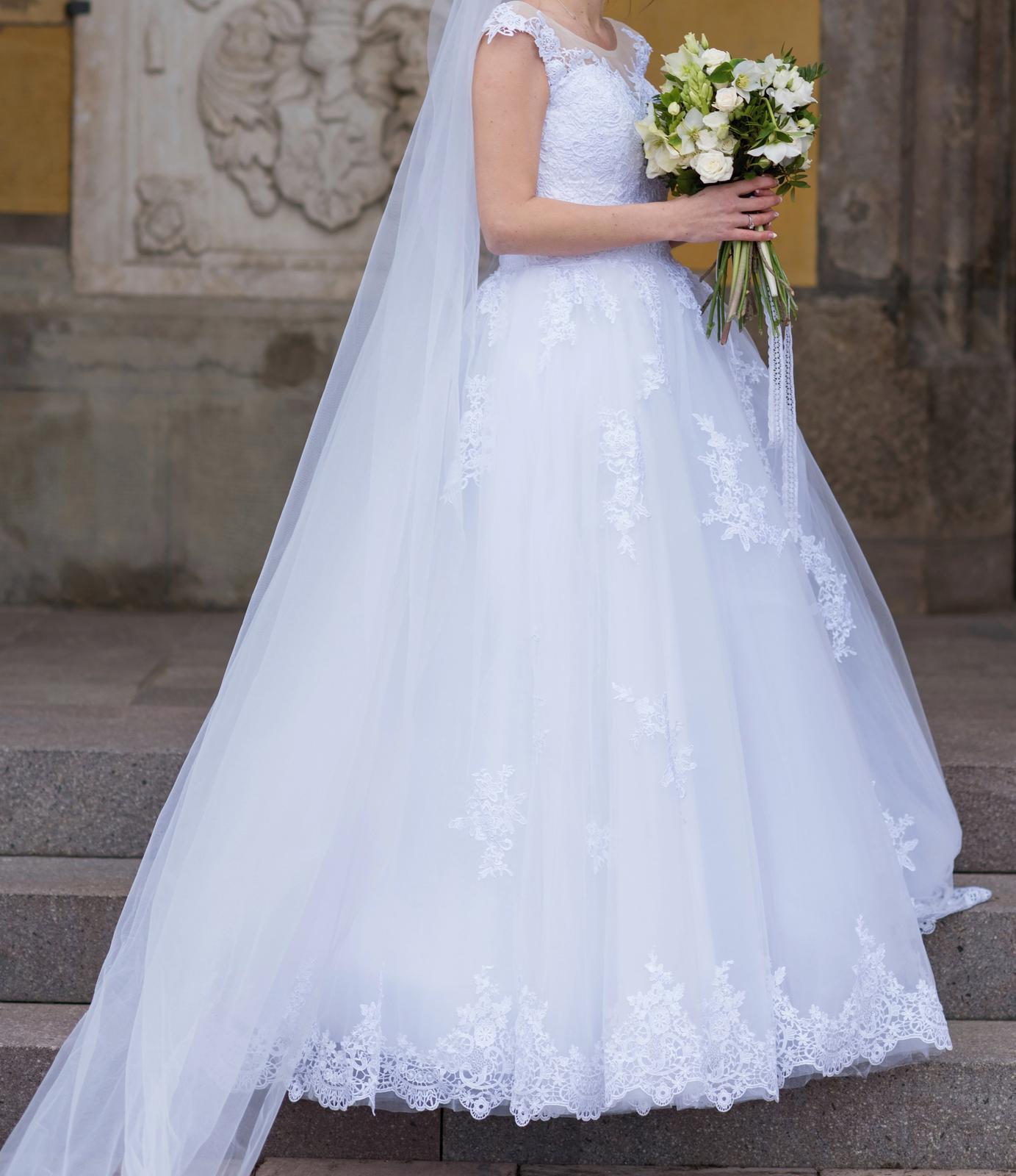 svadobné šaty v. 34-38 - Obrázok č. 3