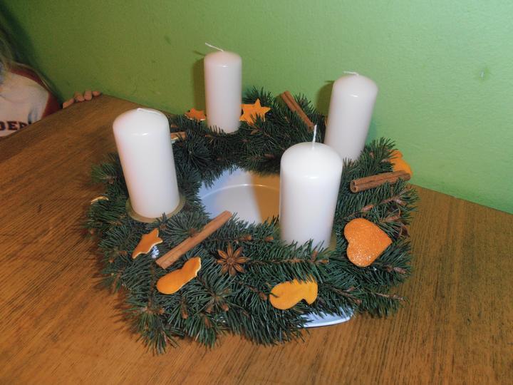 Naše handmade Vánoce 2012 - náš adventní věnec