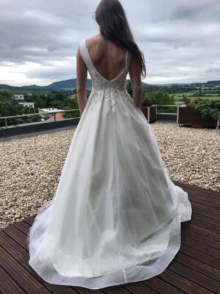 Svadobné šaty veľkosť 34-38 - Obrázok č. 1