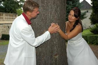 u stromu v zámecké zahradě