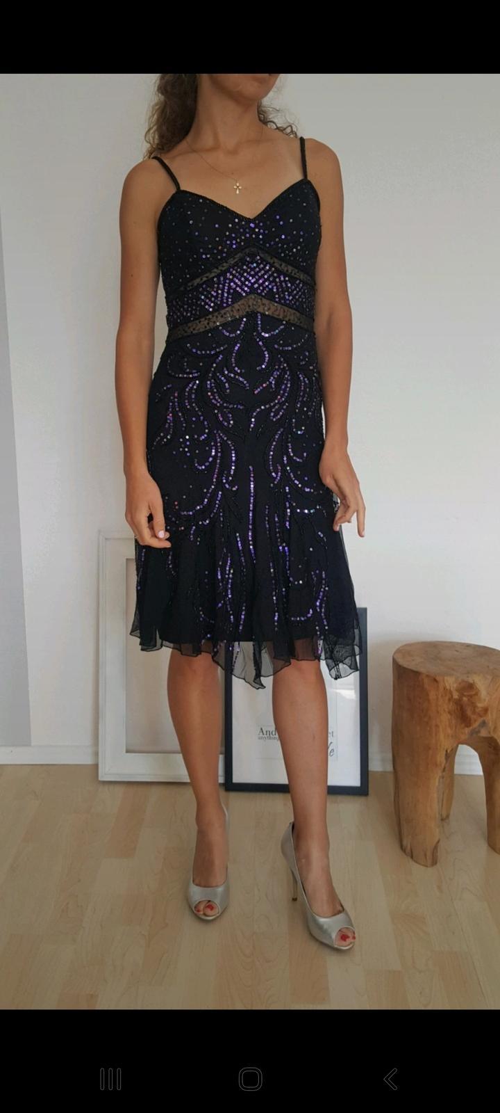 Nádherné luxusní černofialové šaty z Dubaje, vel. XS - Obrázek č. 1