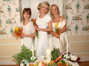 S druzickou Amy a moji sestrou a svedkem Janou