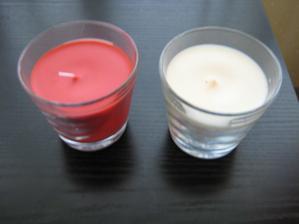 Vonné svíčky na stůl - ještě na ně něco nalepím