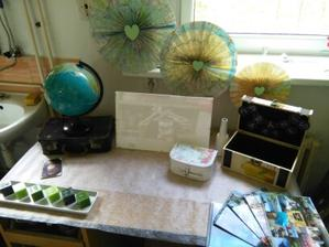 dekorativní stůl na přání a knihu hostů