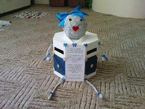 krabicáček na vzkazy pro novomanžele