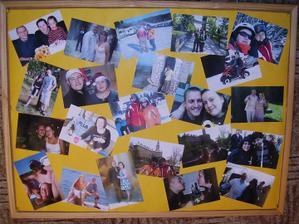 nástěnky s fotkama...