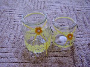 ze sklenic - svícny