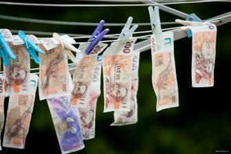 usušit penízky