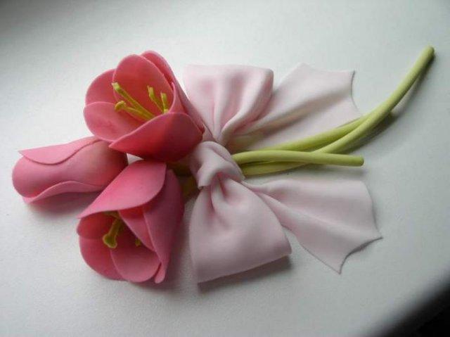 Tulipápy, tulipány a zase jen tulipány - podruhé - marcipánová ozdoba na dort