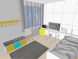 Navrh izby č. 2 - pohľad od dverí
