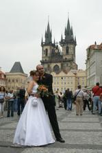 S Týnským chrámem...romantika:o)...ta je moje oblíbená...