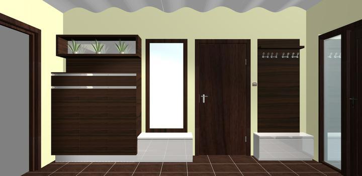 Vizualizácie interiér 2011 - návrh chodby 2 -pre Aluli