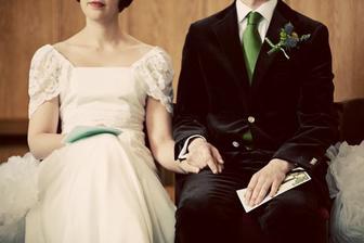 Zaměřeno na: ženichova kravata - krásná barva!