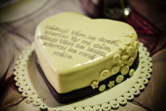 děkovací dorty pro rodiče