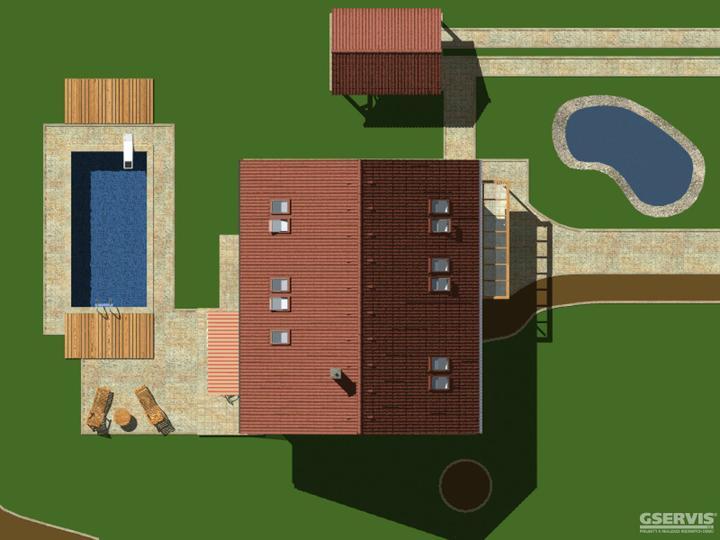 Krása aneb co se mi líbí - Základní parametry domu  dispozice5+1  zastavěná plocha99,0 m2  obestavěný prostor645,0 m3  celková užitková plocha153,2 m2  užitková plocha přízemí79,6 m2  užitková plocha podkroví73,6 m2  výška hřebene střechy7,34 m  sklon střechy35°  orien