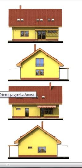 Krása aneb co se mi líbí - Rodinný dům Junior je novinkou roku 2003. Svým moderním vzhledem a snahou o minimalizaci nákladů na výstavbu je určen pro mladé rodiny.  Přízemí rodinného domu Junior je řešeno jako volný spojený prostor s centrálně osazeným schodištěm. Tato přehledn